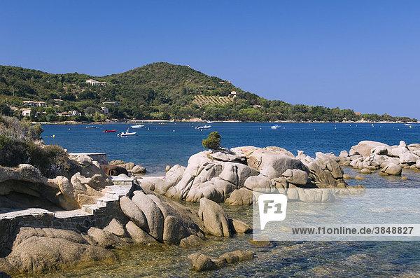 Strand  Plage de Verghia  Golf von Ajaccio  Insel Korsika  Frankreich  Europa