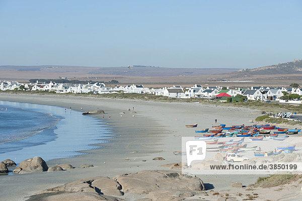 Eines der letzten traditionellen Fischerdörfer  Paternoster  Westliche Kapregion  Südafrika  Afrika