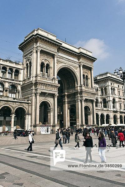 Galleria Vittorio Emanuele II  überdachte Einkaufsstraße  1865  Architekt Giuseppe Mengoni  Piazza del Duomo  Mailand  Lombardei  Italien  Europa