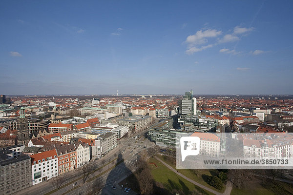 View of downtown  Norddeutsche Landesbank bank  Hannover  Lower Saxony  Germany  Europe