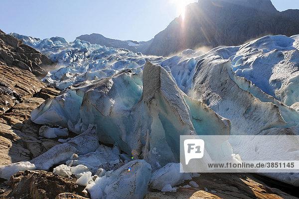 Engabreen  Gletscher Svartisen  Meloy  Nordland  Norwegen  Europa