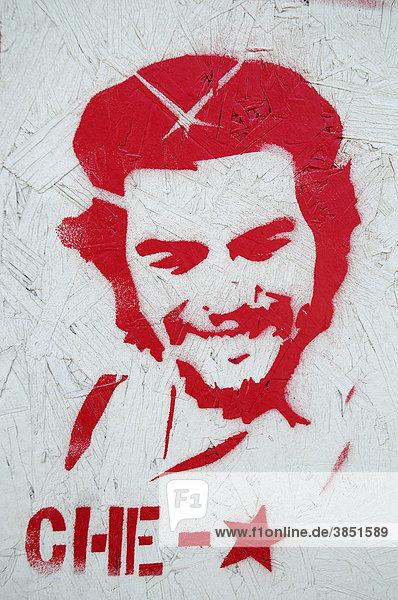 Che Guevara  Guerillaführer  Rebell  Volksheld  Graffiti  Wandmalerei  Arica  Norte Grande  Nordchile  Chile  Südamerika