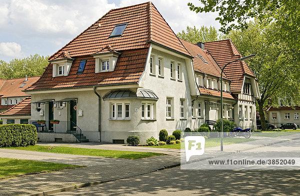 Gartenstadt Welheim  Bergarbeitersiedlung 1914-23  Bottrop  Ruhrgebiet  Nordrhein-Westfalen  Deutschland  Europa