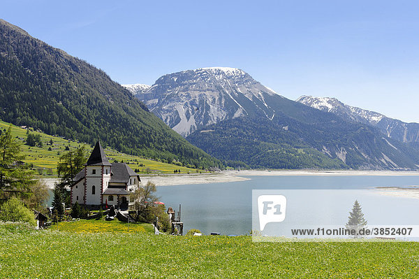 Endkopf  2627 m  above Lake Reschen reservoir  Vinschgau  Val Venosta  South Tyrol  Italy  Europe