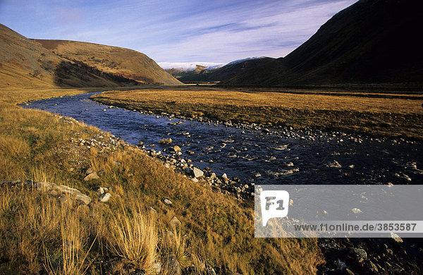 Findhorn Valley  Tal  Strathdearne  Inverness-Shire  Schottland  Großbritannien  Europa