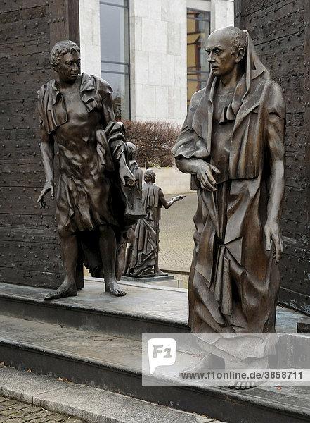 Die Göttinger Sieben  Bronzestatue  Hannover  Niedersachsen  Deutschland  Europa
