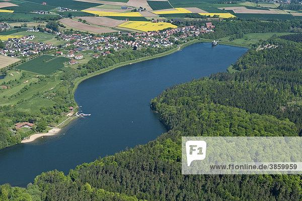 Twistesee  Twiste-Stausee  Wetterburg  Bad Arolsen  Nordhessen  Deutschland  Europa