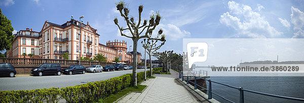 Schloss Biebrich  Wiesbaden-Biebrich  Rhein  Hessen  Deutschland  Europa Schloss Biebrich, Wiesbaden-Biebrich, Rhein, Hessen, Deutschland, Europa