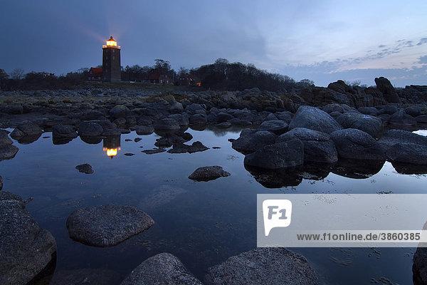 Leuchtturm Svaneke  Bornholm  Dänemark  Europa