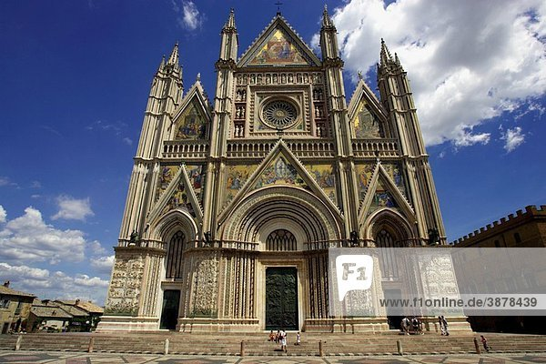 The Cathedral in Orvieto  Umbria  Italy