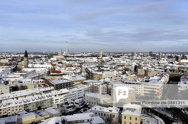 View of Brunswick or Braunschweig in winter  Lower Saxony  Germany  Europe