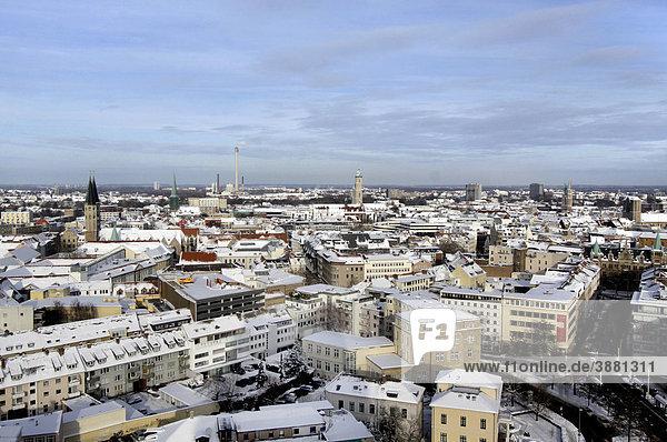 Ausblick auf Braunschweig im Winter  Niedersachsen  Deutschland  Europa