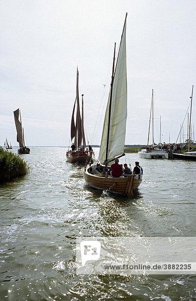 Segelboote  Zeesenboot Regatta  Ahrenshoop  Fischland-Darß-Zingst  Mecklenburg-Vorpommern  Deutschland  Europa