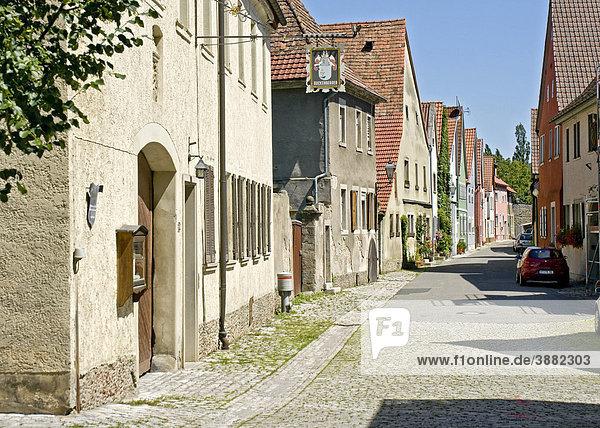 Alte Gebäude in Iphofen  Unterfranken  Bayern  Deutschland  Europa