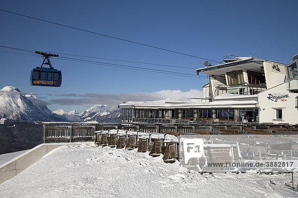 Bergstation Rosshütte  1760m  Bergbahn Härmelekopf  Seefeld  Tirol  Österreich  Europa