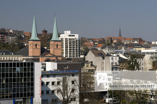 Cityscape  Wuppertal  Bergisches Land area  North Rhine-Westphalia  Germany  Europe