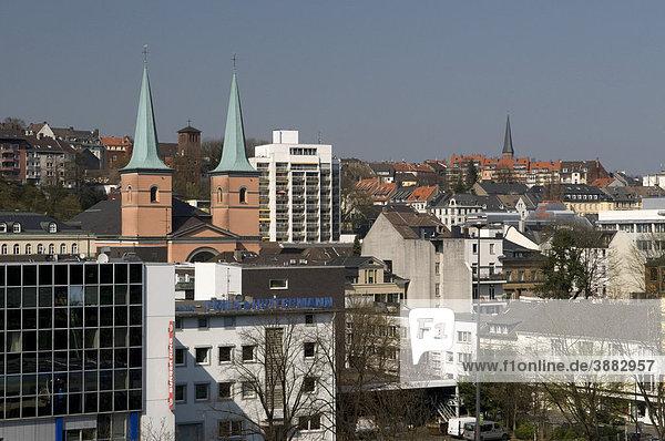Stadtansicht  Wuppertal  Bergisches Land  Nordrhein-Westfalen  Deutschland  Europa