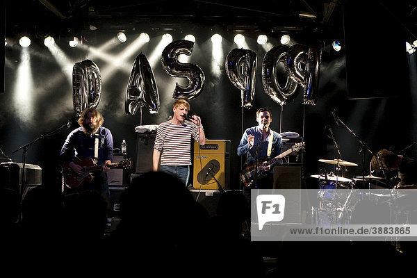 Belgian pop band The Pop live at the Schueuer venue  Lucerne  Switzerland