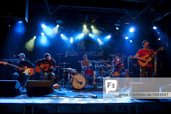 The Swiss singer-songwriter Al-Berto and his band The Fried Bikinis  live at the Schueuer Concert Hall  Lucerne  Switzerland