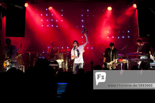 The Swiss pop band Lovebugs  live at the Schueuer Concert Hall  Lucerne  Switzerland