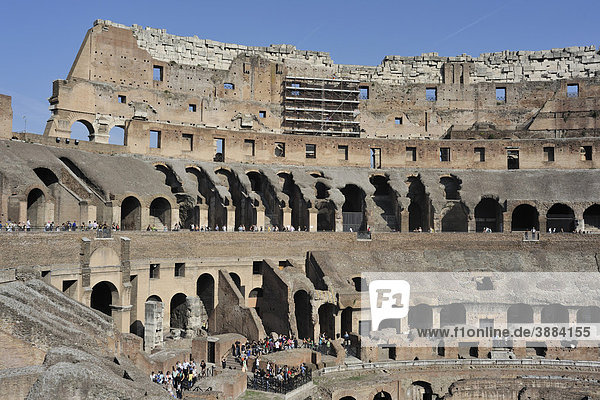 Interior  Colosseum  Rome  Lazio  Italy  Europe