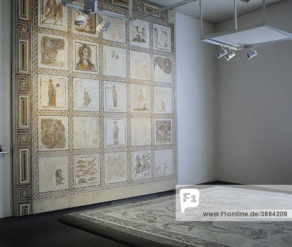 Römische Wandmalerei im Palazzo Massimo  Museo Nazionale Romano  Rom  Latium  Italien  Europa