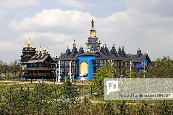 Glockenpalast  Europäisches Kunsthandwerker-Institut Die Brücke im internationalen Wind- und Wassermühlenmuseum  Gifhorn  Niedersachsen  Deutschland  Europa