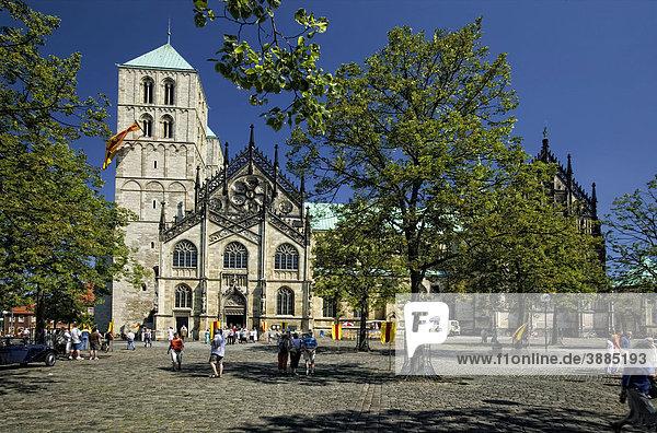 Der Dom Sankt Paulus  Münster  Nordrhein-Westfalen  Deutschland  Europa