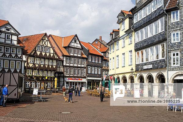 Auf dem Krambuden  in der Fürstlichen Freiheit  Wolfenbüttel  Niedersachsen  Deutschland  Europa