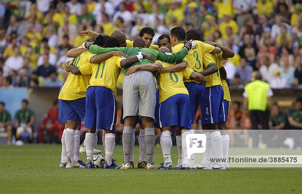 Brasilianische Fußball Nationalmannschaft Selecao bei der WM 2006 in Deutschland