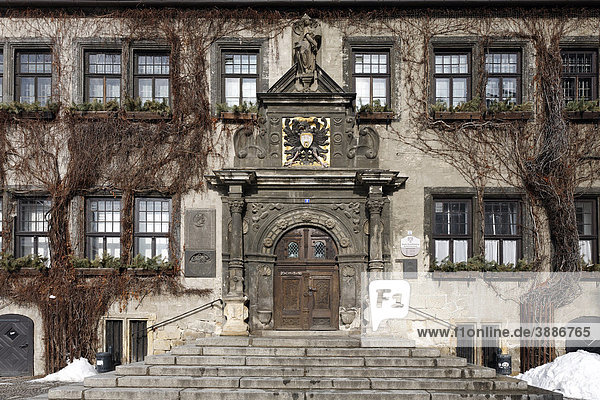 Rathaus mit Renaissance-Portal  historische Altstadt  Quedlinburg  Harz  Sachsen-Anhalt  Deutschland  Europa Rathaus mit Renaissance-Portal, historische Altstadt, Quedlinburg, Harz, Sachsen-Anhalt, Deutschland, Europa
