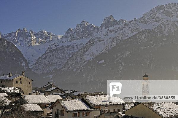 Soglio  Bregaglia  Grisons  Switzerland  Europe