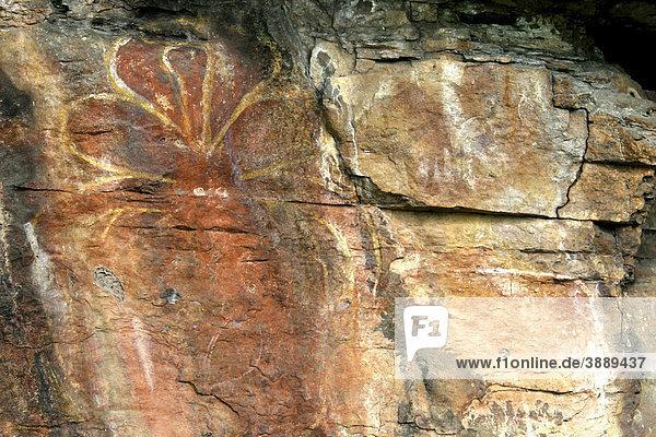 Felsmalereien der Aborigines  Anbangbang Gallery  Nourlangie Kakadu Nationalpark  Northern Territory  Australien