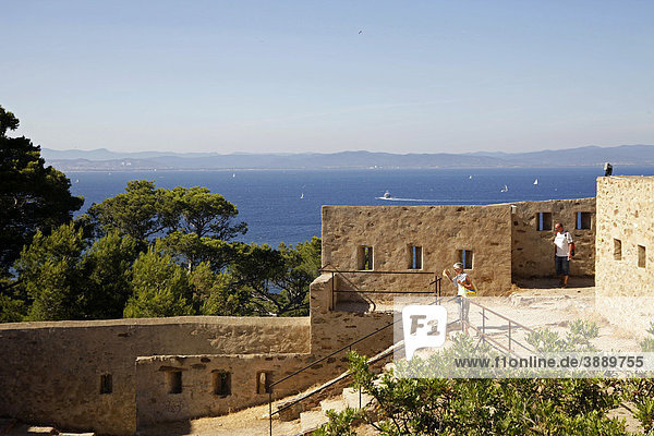 Fort Sainte-Agathe on Ile de Porquerolles island  Cote d'Azur  France  Europe