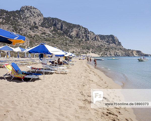 Tsambika beach  Rhodes Island  Dodecanese  Greek Islands  Greece  Southern Europe  Europe