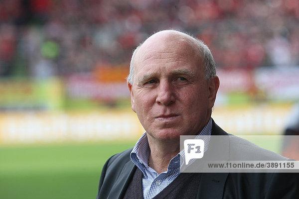 Dieter Hoeness  manager of VFL Wolfsburg Soccer Club  Bundesliga  German Soccer League  Mainz  Mayence  Rhineland-Palatinate  Germany  Europe