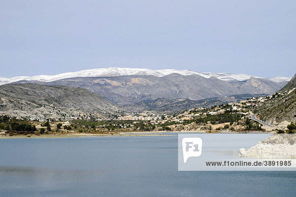 Embalse del Rio Amadorio,  Rio Amadorio Fluss,  Stausee,  Gebirge,  Villajoyosa,  Vila Joiosa,  Costa Blanca,  Provinz Alicante,  Spanien,  Europa