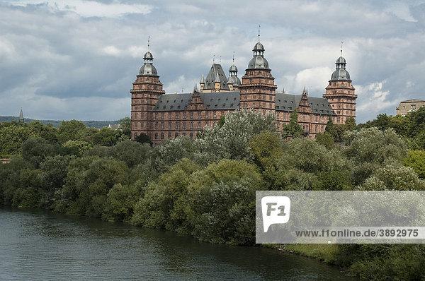 Schloss Johannisburg  Main  Aschaffenburg  Bayern  Deutschland  Europa