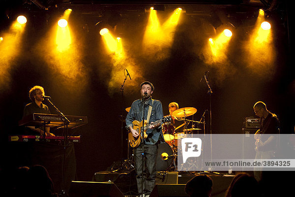 The Swiss singer and musician Lee Everton live with his band The Scrucialists in the Schueuer venue  Lucerne Switzerland