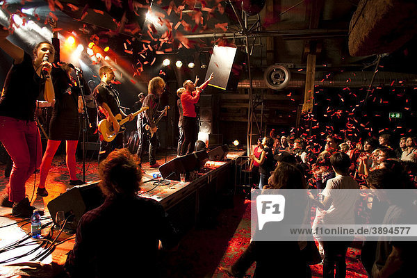 The Swedish indie-pop band I'm from Barcelona live in the Schueuer venue  Lucerne  Switzerland