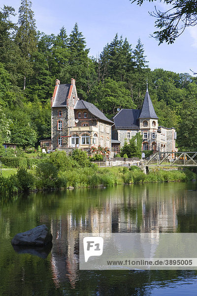 Guesthouses in Treseburg  Bodetal valley  Harz district  Saxony-Anhalt  Germany  Europe Guesthouses in Treseburg, Bodetal valley, Harz district, Saxony-Anhalt, Germany, Europe
