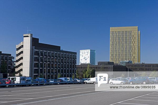Parkplatz  Europäischer Gerichtshof  Europäische Kommission  Kirchberg-Plateau  Europaviertel  Luxemburg  Europa