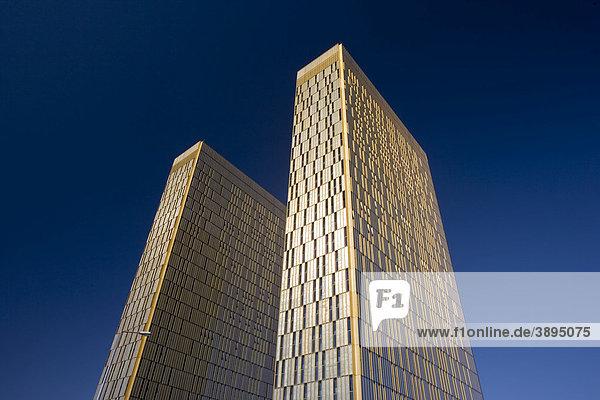 Bürohochhäuser  Europäischer Gerichtshof  Kirchberg-Plateau  Europa-Viertel  Luxemburg  Europa