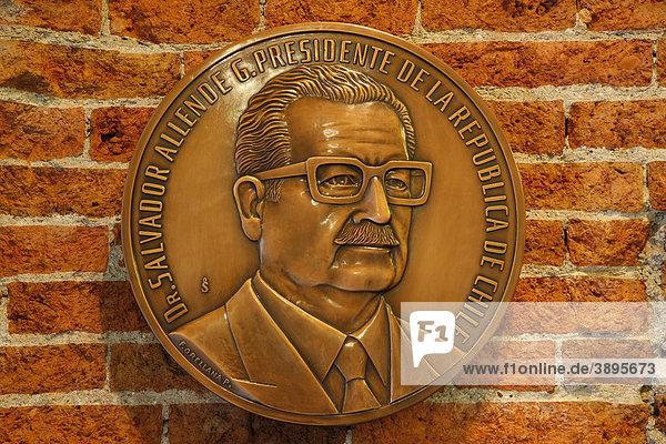 Gedenktafel  Dr. Salvador Allende  Santiago de Chile  Chile  Südamerika