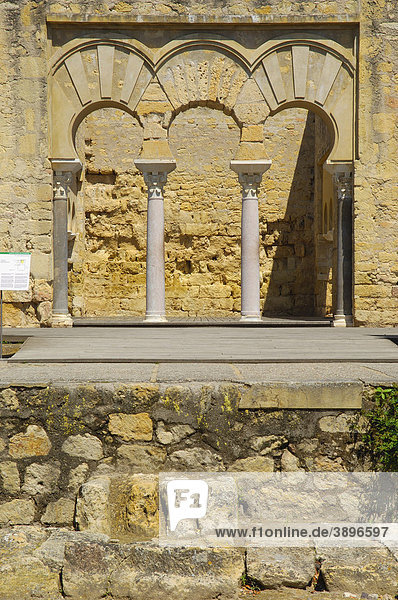 Ruinen der Madinat al-Zahra oder Medina Azahara  Palast gebaut von Kalif Abd al-Rahman III  CÛrdoba  Andalusien  Spanien  Europa