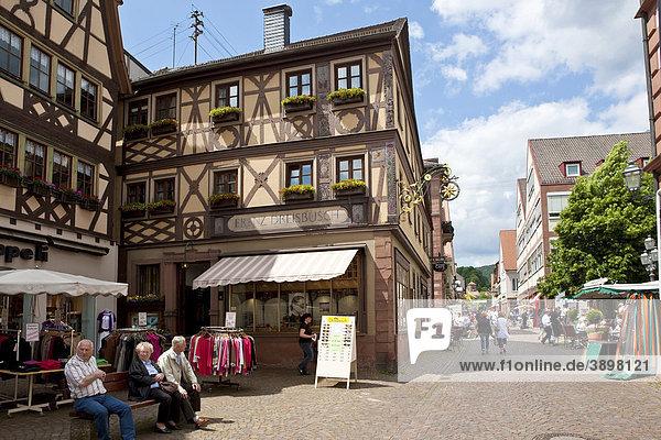 Altstadt von Lohr am Main  Hessen  Deutschland  Europa