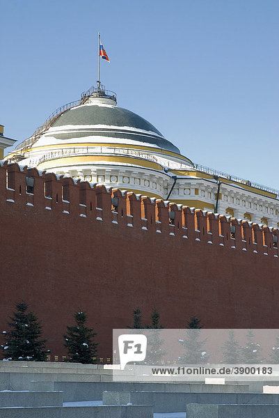 Roter Platz  Kreml-Mauer  Moskau  Russland