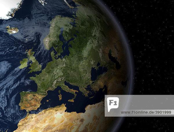 Die Erdkugel mit Europa