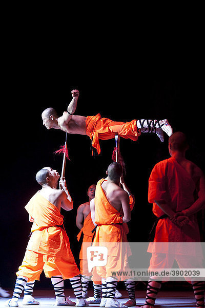 Monks from the Shaolin monastery  performance in Berlin  Germany  Europe