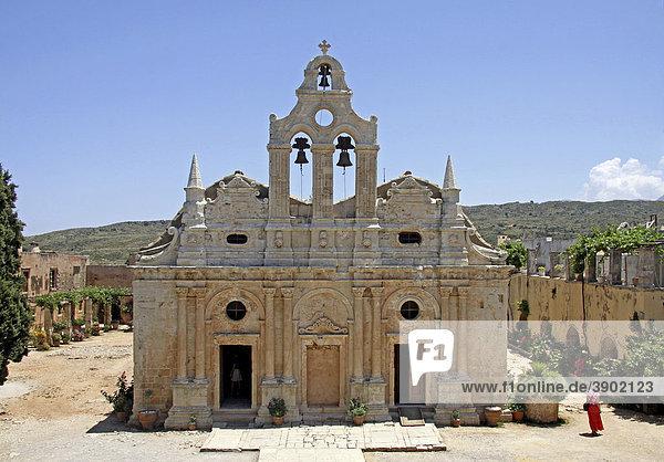 Klosterkirche  Arkadi-Kloster  Moni Arkadi  Nationaldenkmal  Kreta  Griechenland  Europa